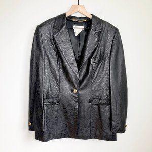 ESCADA Margaretha Ley Designer Lamb Leather Blazer